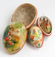 vintage paper mache easter eggs german paper eggs but mine out every easter and decorate my tree