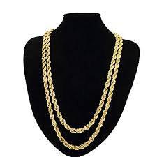 big chain necklace fashion images Tuokay 18k big gold rope chain necklace fake gold jpg