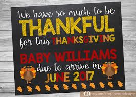 thanksgiving pregnancy announcement printable chalkboard