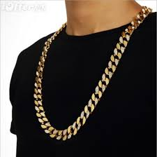 gold chain necklace men images Hip hop bling 18k gold cuban chain men 39 s necklace sn033 for sale jpg