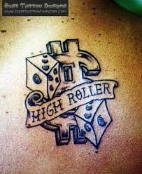 tattoos awesome high roller dice card