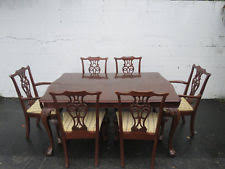 Dining Table And Six Chairs Antique Dining Sets 1900 1950 Ebay