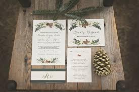 Christmas Wedding Invitations Amazing Diy Winter Wedding Invitations Oxsvitation Com