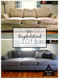 Cost To Reupholster A Sofa Tutorial Diy Couch Reupholster With A Canvas Drop Cloth Turn An