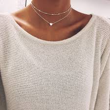 silver necklace chokers images Silver heart chain choker stargaze jewelry choker and chains jpg