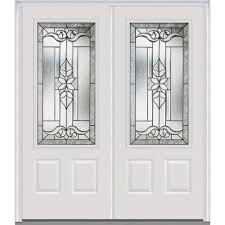 Metal Front Doors For Homes With Glass by Mmi Door 64 In X 80 In Cadence Right Hand 3 4 Lite 2 Panel