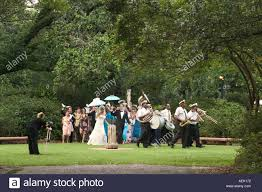 second line wedding a second line wedding winds its way through the botanical gardens