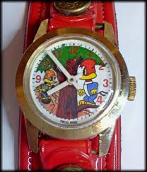 the woody woodpecker animated woody woodpecker wind up watch with moving bird and