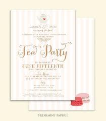 bridal shower invitation tea party invitation printable