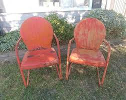 vintage metal patio furniture etsy