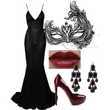 masquerade dresses and masks black masquerade mask and dress with polyvore