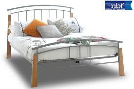 Beech Bed Frame Jose Bed Beechwood Bed Metal Bed Frame Furniturestop Co Uk