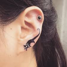 earring ear 30 cool the ear tattoos and ear tattoos thefashionspot