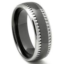Best Metal For Mens Wedding Ring by 2nd Generation Tungsten Carbide Two Tone Milgrain Dome Wedding