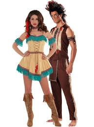 Party Halloween Costumes Noble Warrior Native American Couples Costumes Party