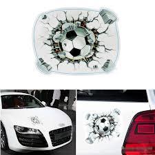 cool 3d football car sticker cartoon spray paint color covers car