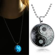 glass jewelry necklace images Glass necklace jewelry glow in the dark necklaces for women new jpg
