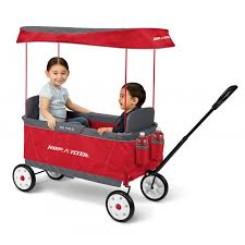 wagon baby ultimate ez folding wagon with canopy radio flyer