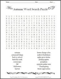 free autumn fall word search puzzle printable holidays