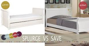 Single Sleigh Bed Splurge Vs Save Child U0027s Sleigh Bed Family Home U0026 Lifestyle