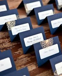 Place Cards Wedding 2014 Navy Blue Place Card For Beach Wedding Nautical Beach