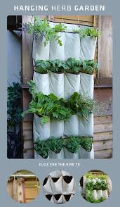 how to turn a hanging pocket shoe organizer into a vertical garden