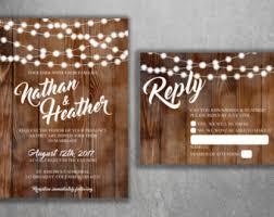 wedding invitations etsy rustic wedding invitation etsy