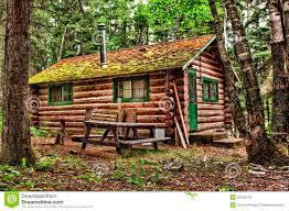 rustic cabin old rustic log cabin stock photo image 74685424