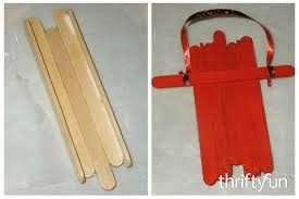 a popsicle stick wooden sled ornament thriftyfun