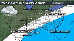 weather map ohio significant winter possible on friday indianaweatheronline