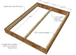 Pallet Bed Frame Plans Queen Sized Bed Frame U2013 Tappy Co