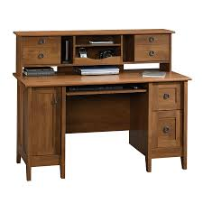 Sauder Computer Desks With Hutch by Shop Sauder August Hill Country Computer Desk At Lowes Com