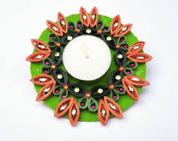 Christmas Decorating Tea Light Holder by Quilled Candle Etsy