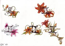 awesome gemini n tiger lily tattoo design for boys picsmine