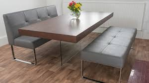 dining room tables with benches and chairs chic modern dining table bench home furniture