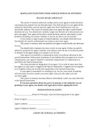 Power Of Attorney Colorado Form by Limited Power Of Attorney Form 37 Free Templates In Pdf Word