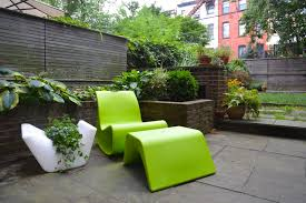 Modern White Planter by Calm Fence Color Near Modern Green Furniture Color On Stone Floor