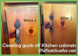 Clean Kitchen Cabinets What I Live For How To Clean Gunk Off Your Kitchen Cabinets