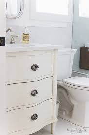 Bathroom Vanities That Look Like Furniture Faux Carrara Marble Master Ensuite So Much Better With Age
