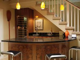 awesome small space home bar ideas with curved bar table and high