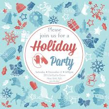 christmas party invitation template stock vector art 605988536