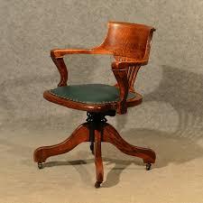 Antique Wooden Office Chair Antique Oak Office Desk Elbow Study Swivel Chair Antiques Atlas