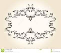 vector vintage royal frame ornament decor text stock