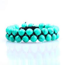 turquoise bead bracelet images Double row turquoise bead bracelet tavv jpg