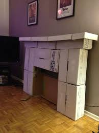 make your own cardboard fireplace use a sponge to make the