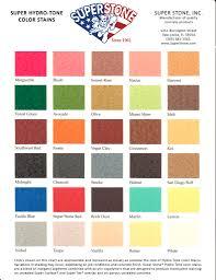 color charts super stone inc
