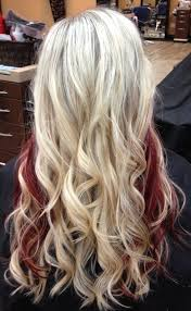 blonde and burgundy hairstyles 12 beautiful blonde hairstyles with red highlights blondes