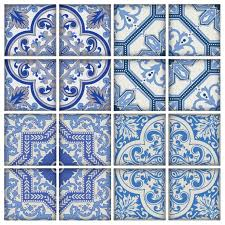 tile decals for kitchen backsplash moroccan bule tiles stickers ameur pack of 16 tiles tile decals