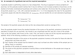 16 an example of a hypothesis test and the requir chegg com