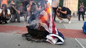 Flag Burning Protest Last Night U0027s Flag Burning Event In Brooklyn Descended Into Chaos